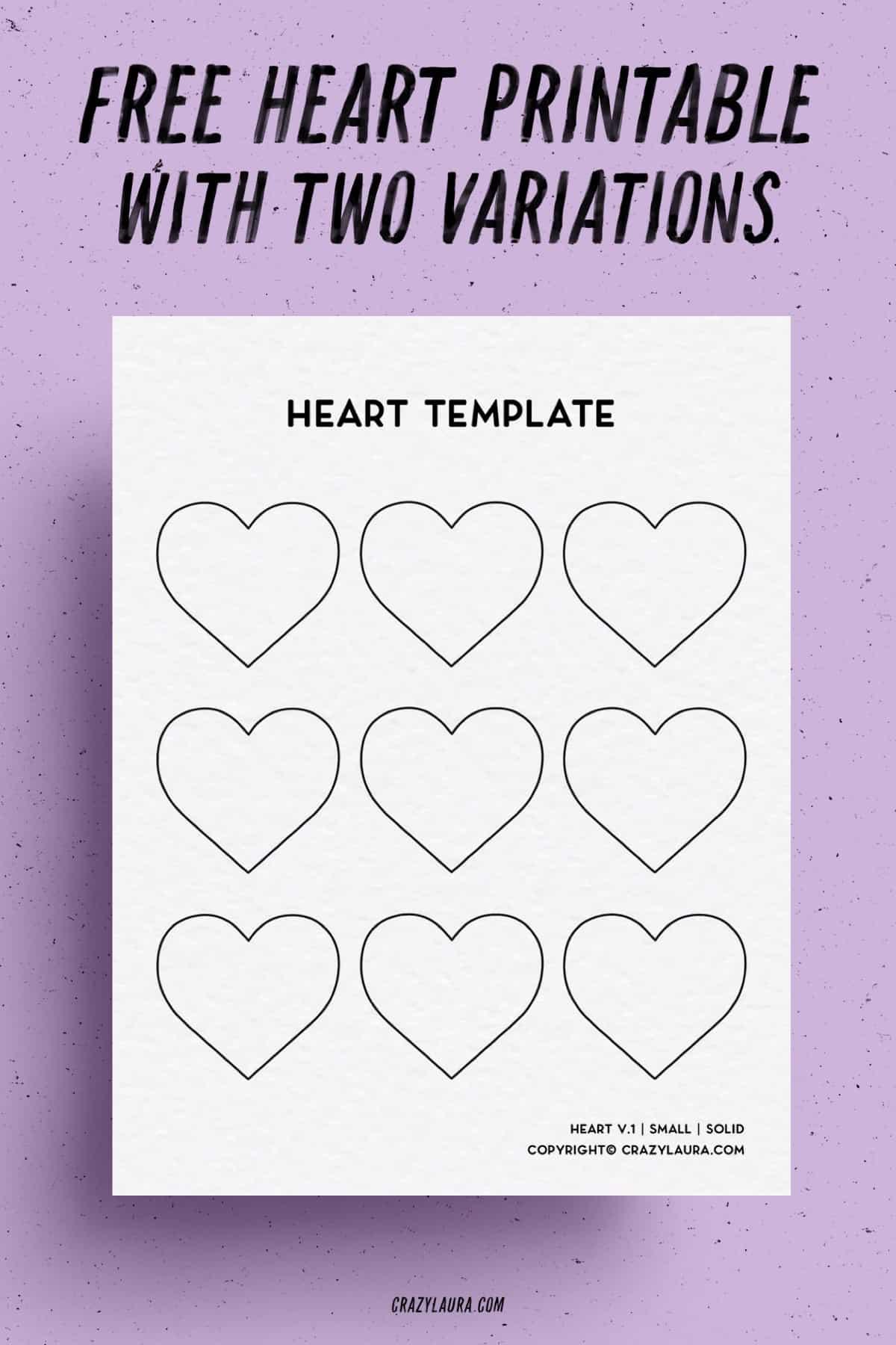 printable pdf heart