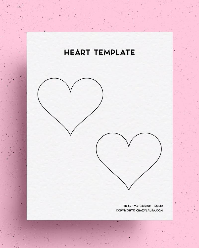 valentines heart printable