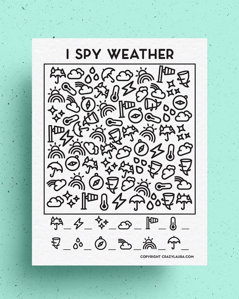 free weather ispy activity to print