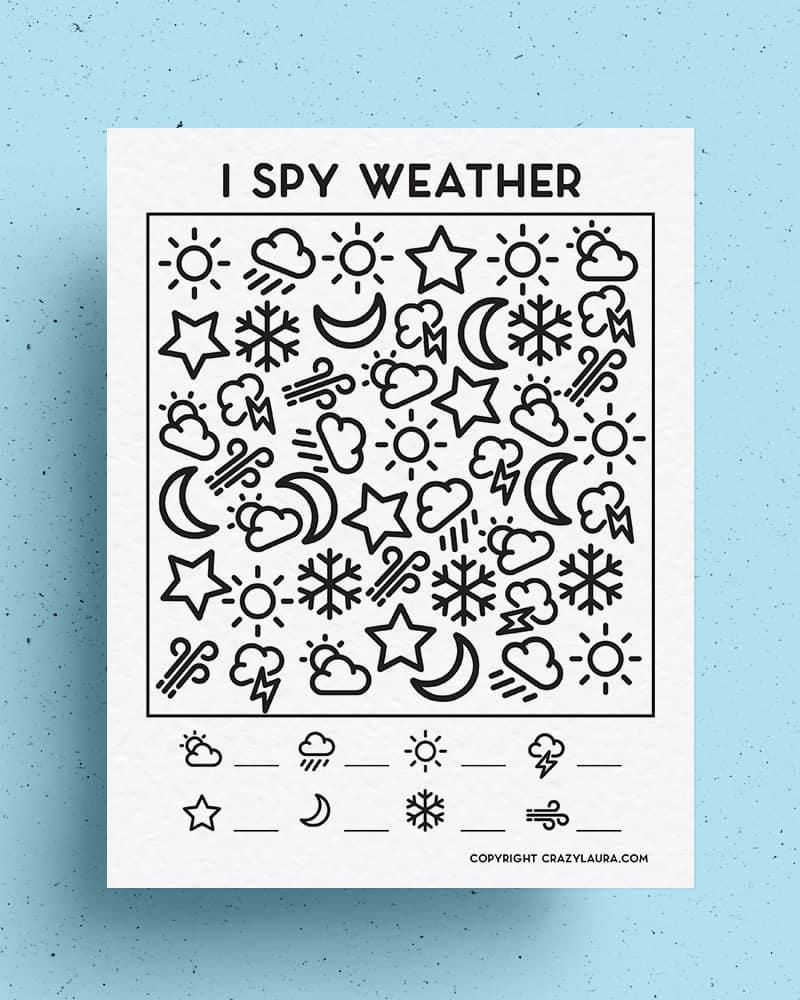 weather themed i spy printable
