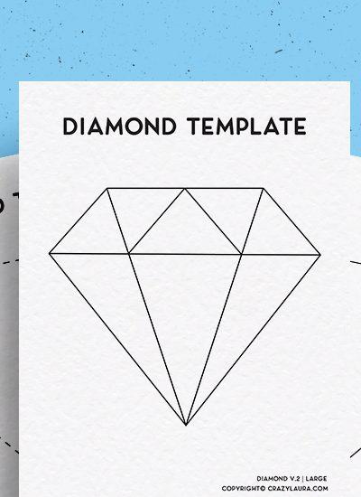 diamond printable templates