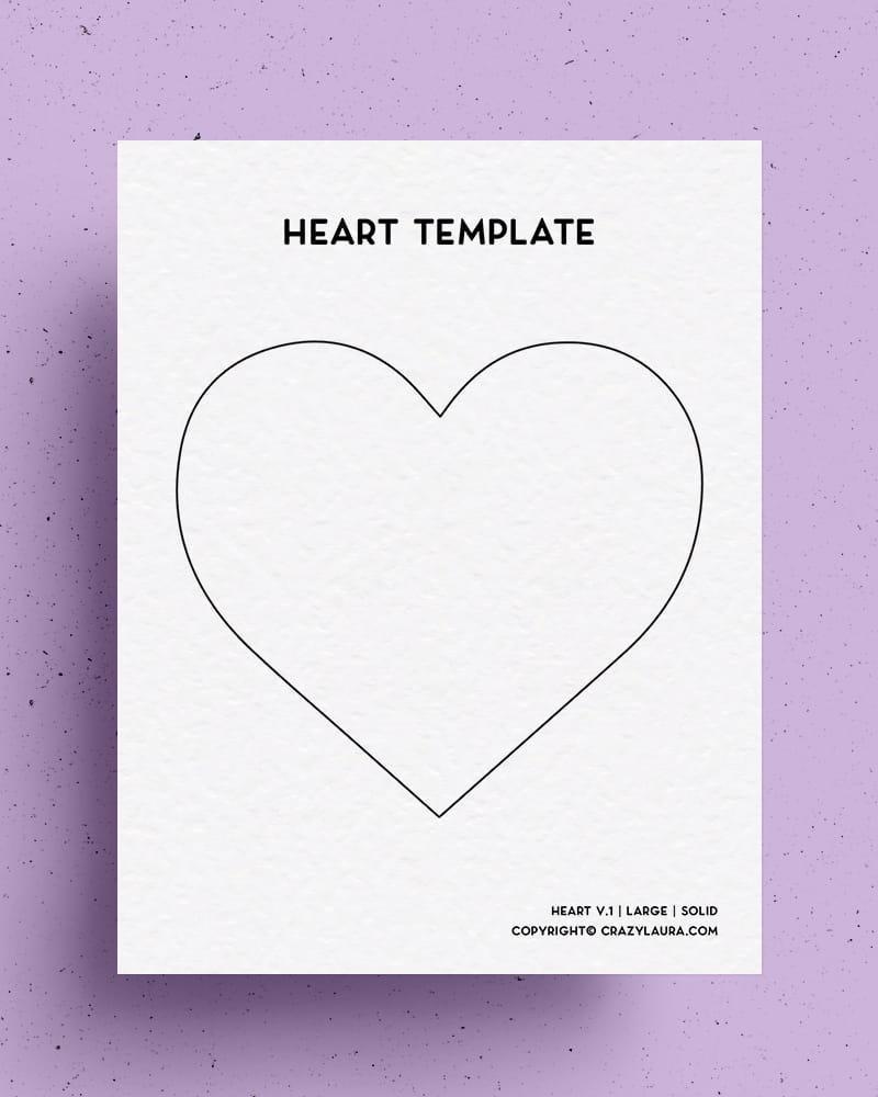easy to print heart shape outline