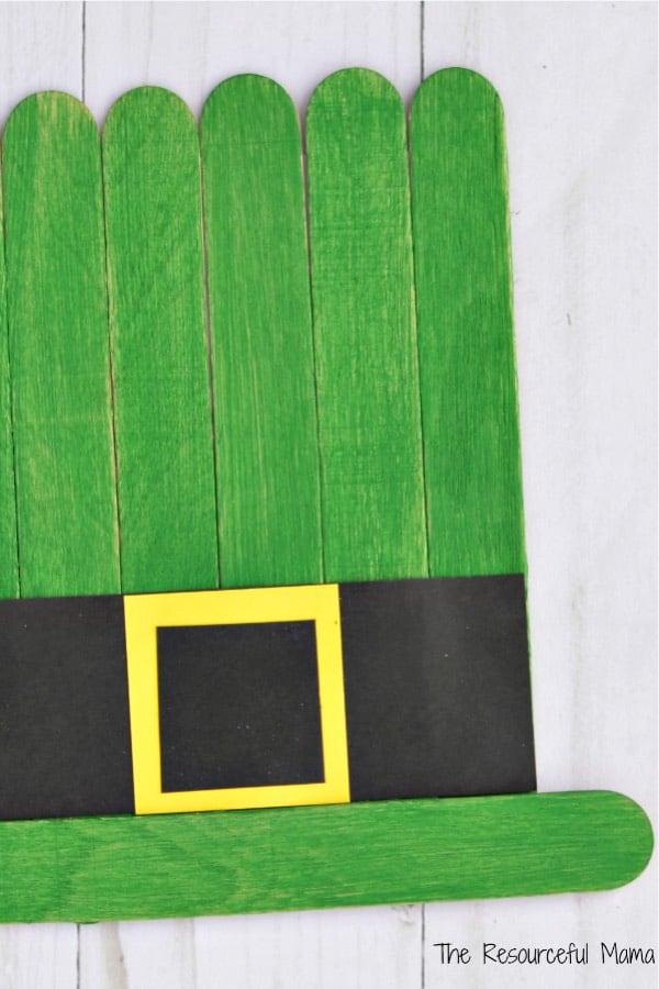 popsicle stick leprechaun craft project
