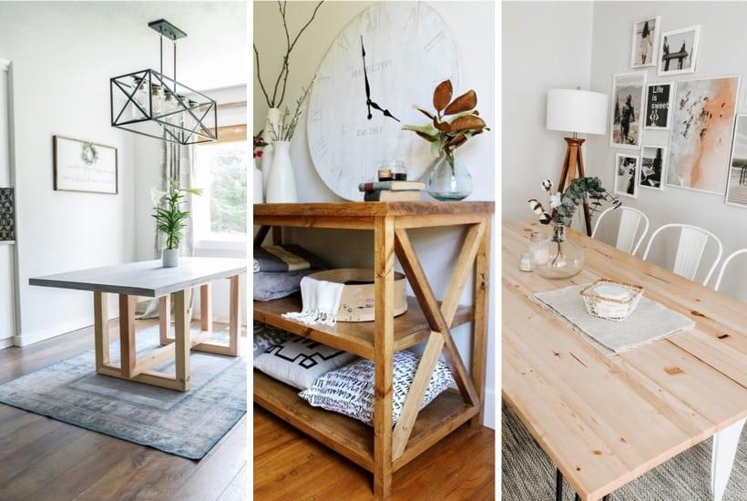 20+ DIY Tables & Plan Tutorials To Save Money