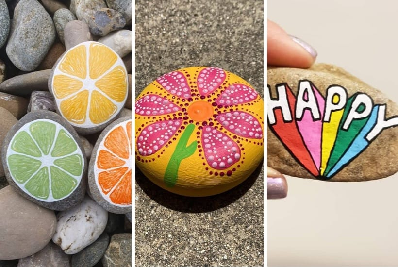 summer painted rocks for kids