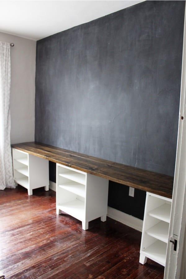 long double desk plans to build
