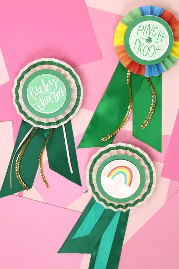 paper award ribbons for st paticks