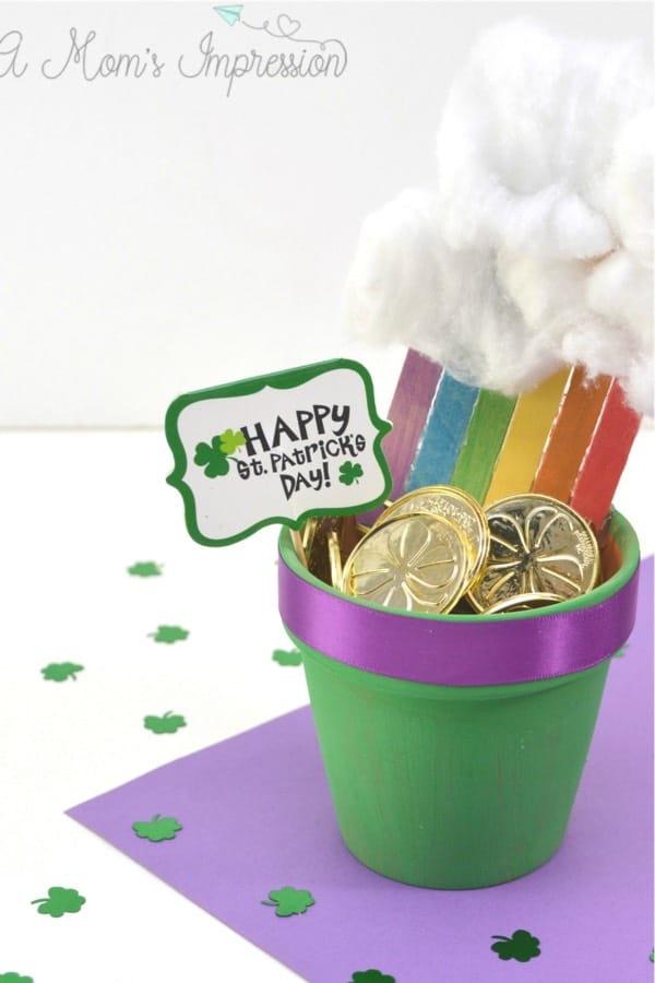st patricks day craft with flower pot