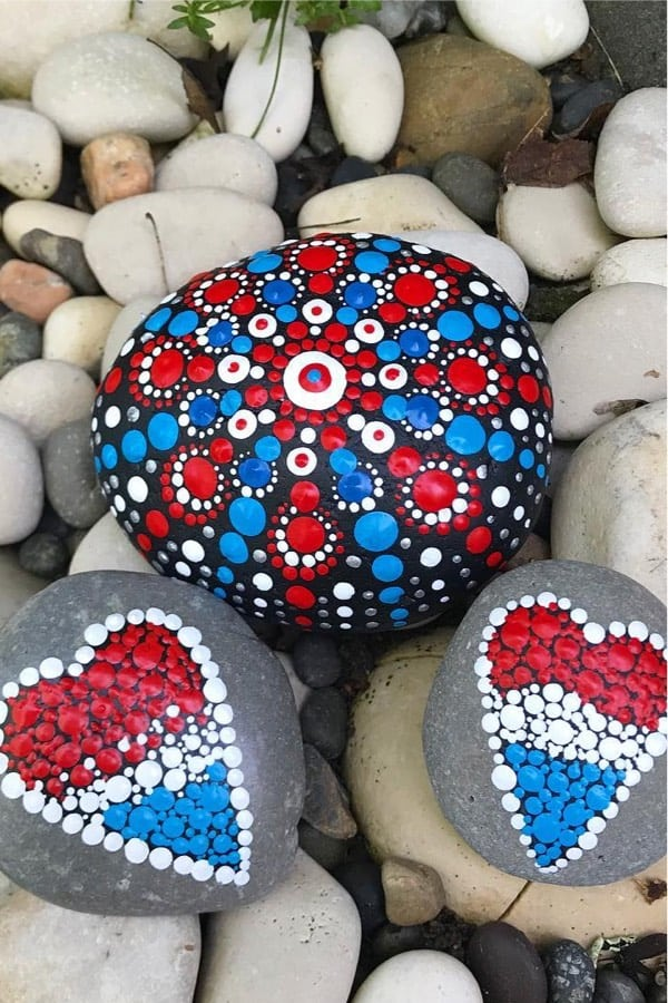 july painted rock ideas for inspiration