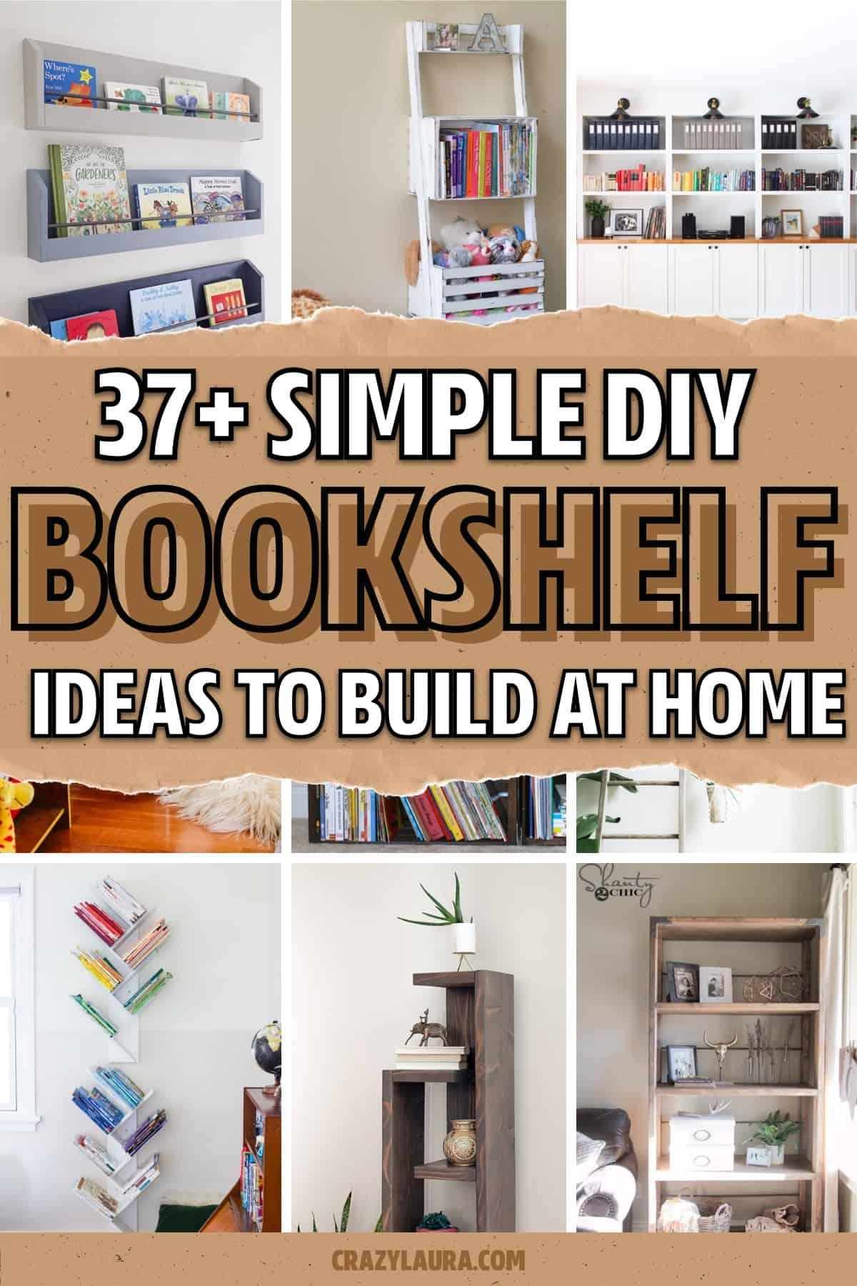 simple bookshelf tutorials