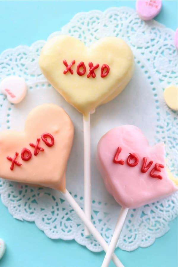 heart shaped cake bites