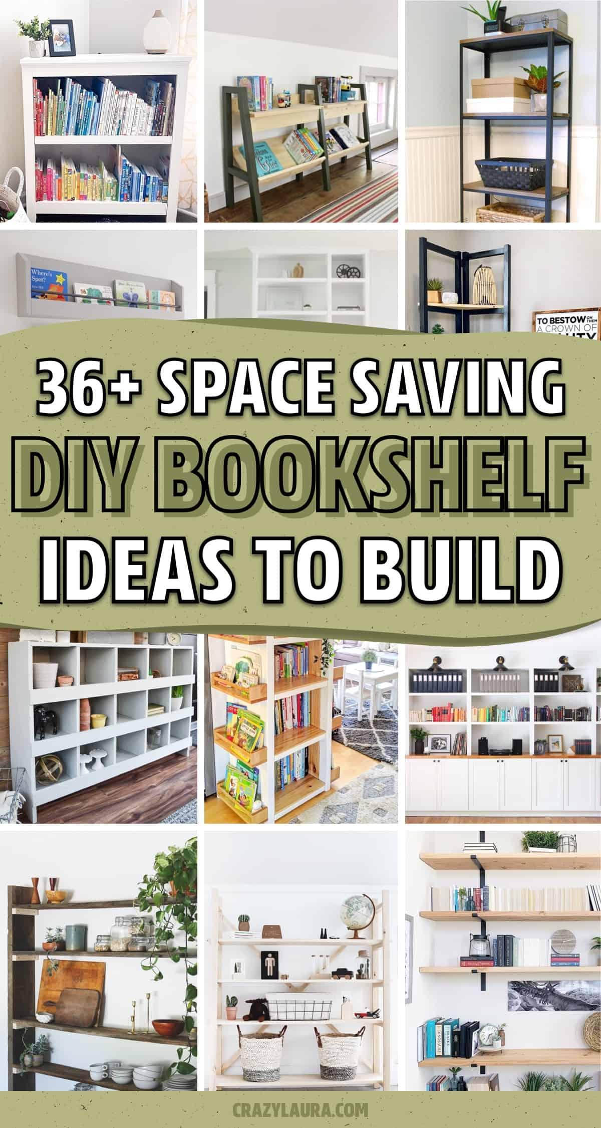 easy bookshelf tutorials