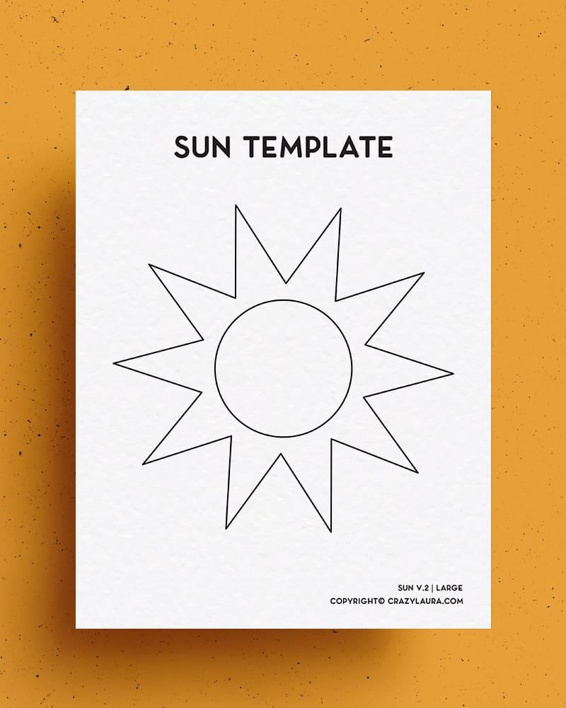 free sun printable outlines