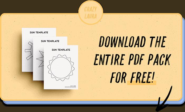 free pdf printables of suns