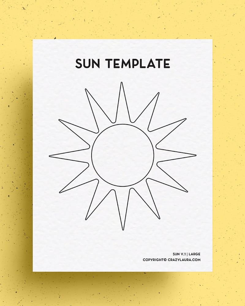 sun coloring templates