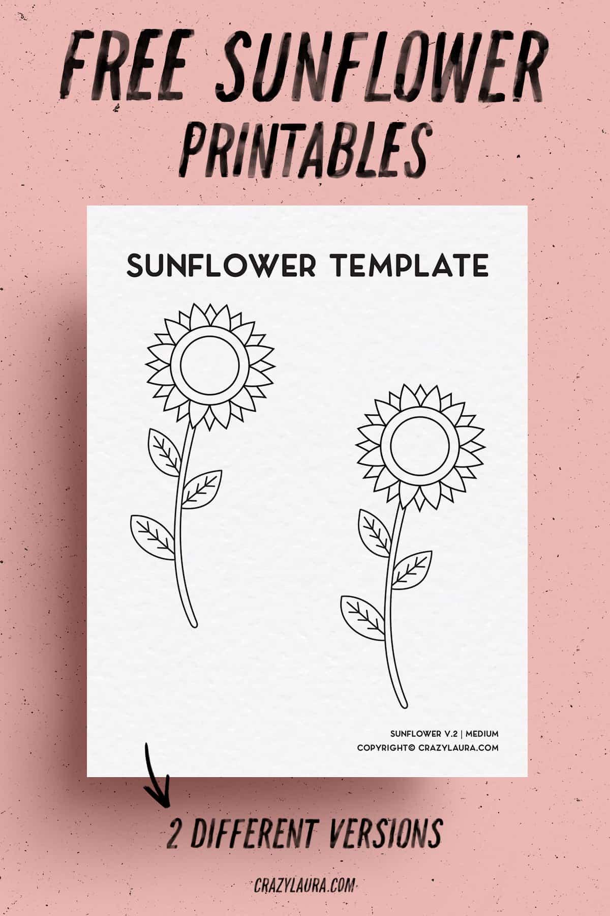 sunflower outline activity