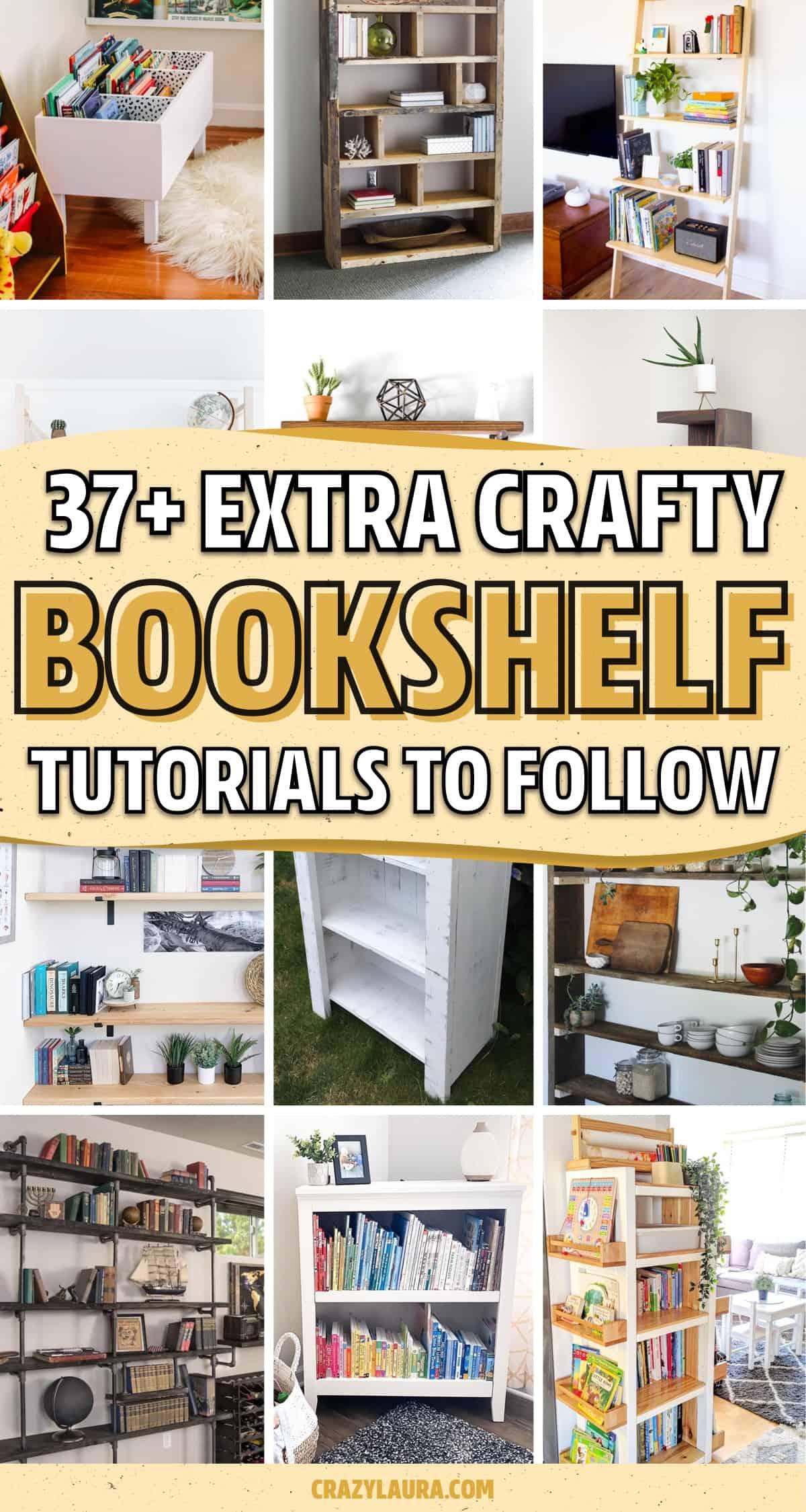 fun diy bookshelf projects
