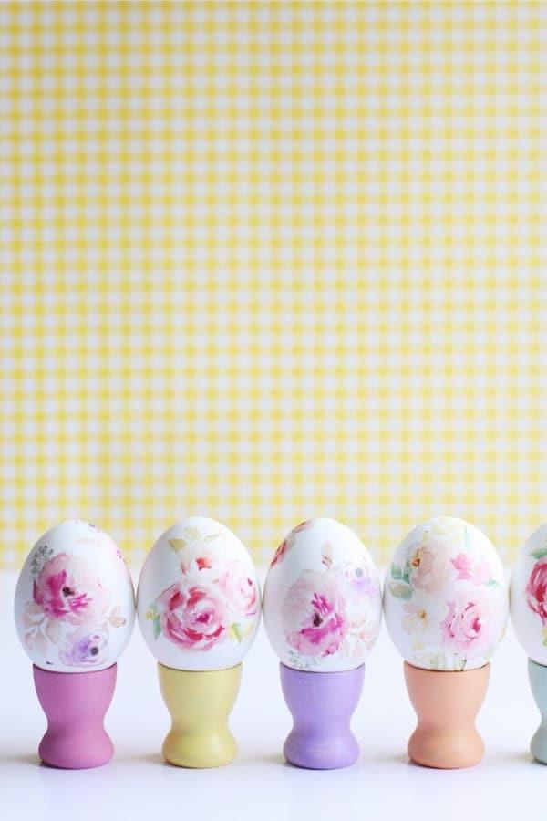 floral easter egg designs