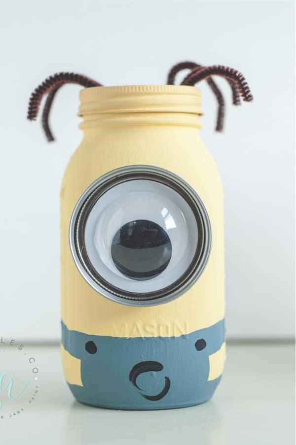 minion themes mason jar craft