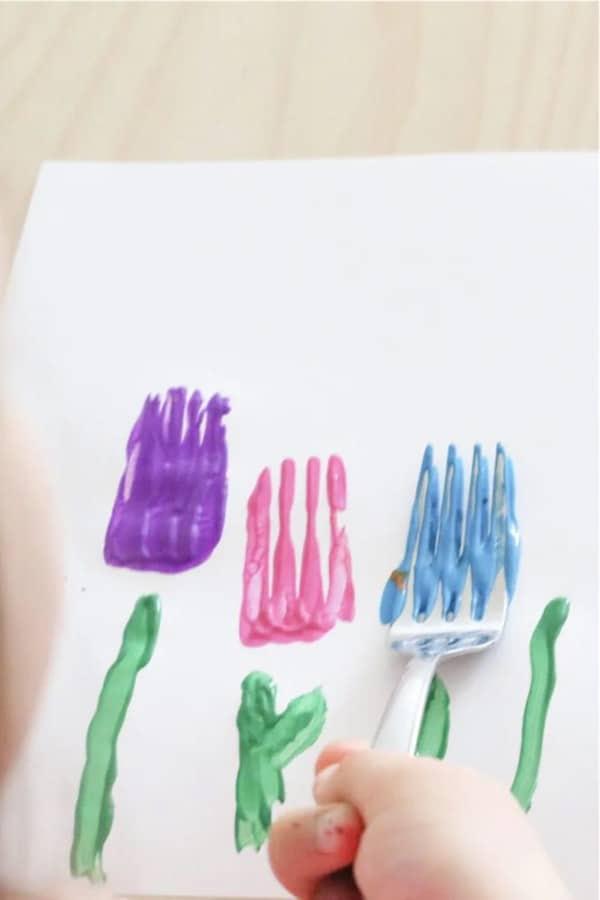 fork flower spring craft