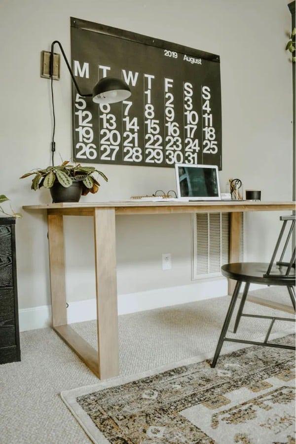 plans for building modern desk