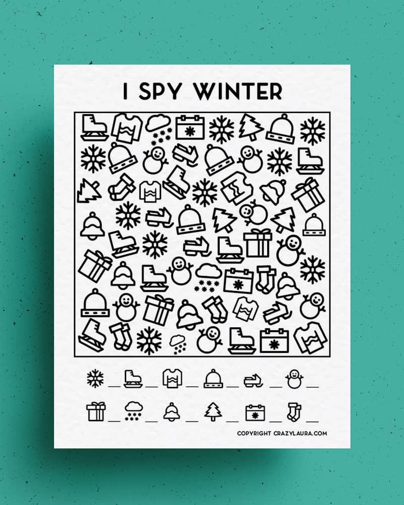 kids christmas I spy activity
