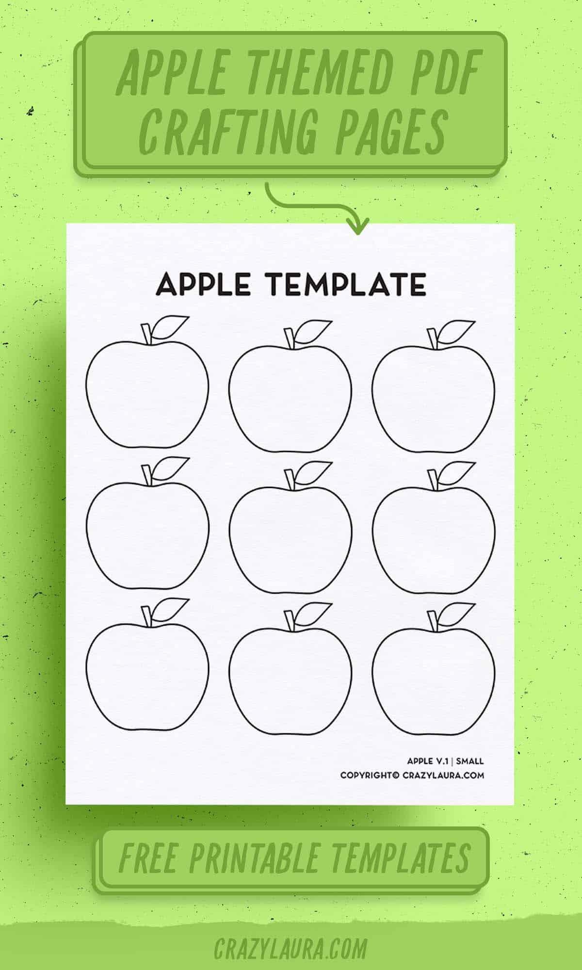free apple outline printable
