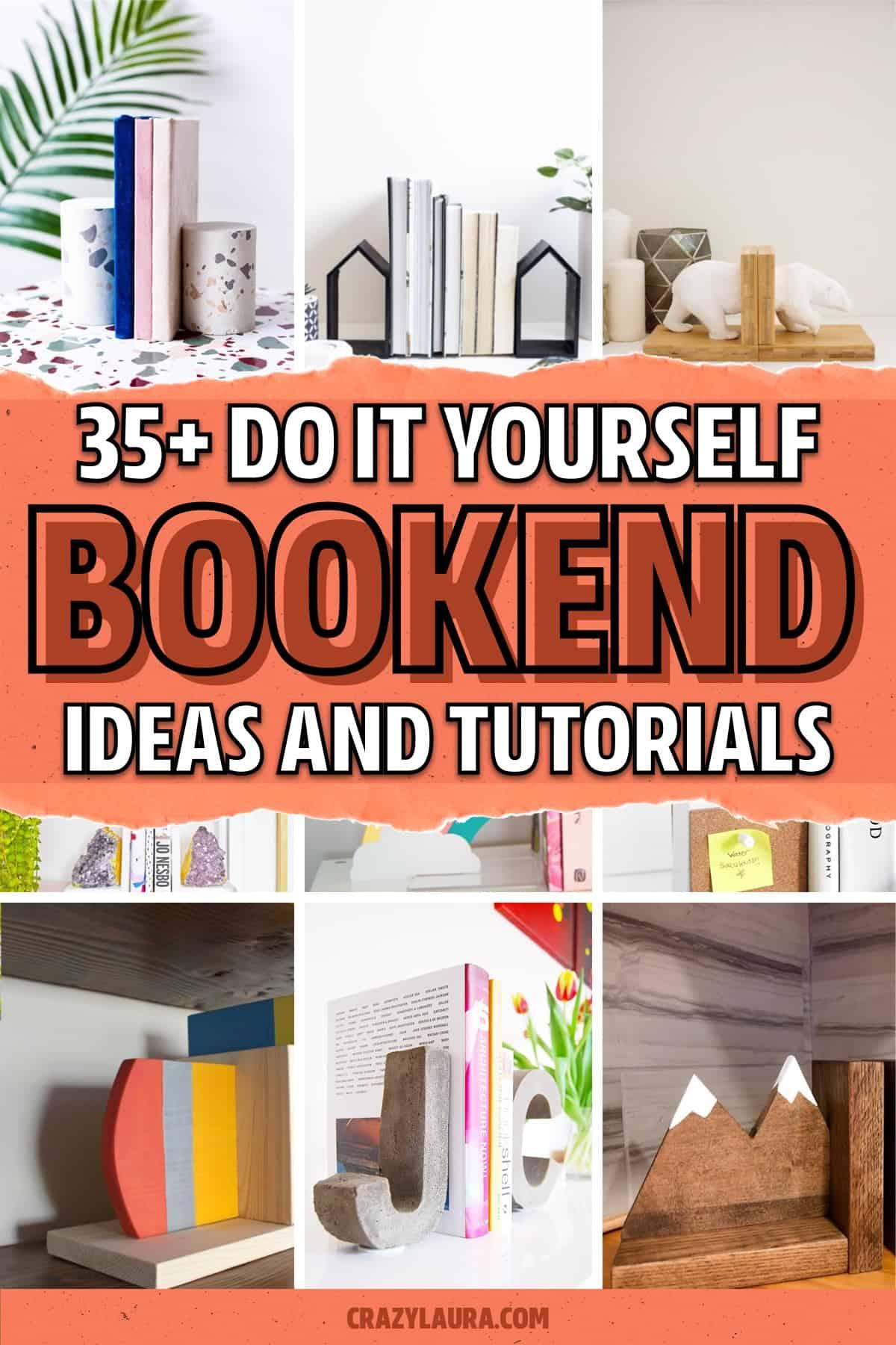 diy bookends ideas and tutorials