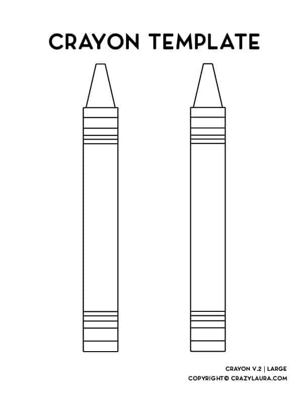 crayon outline printables