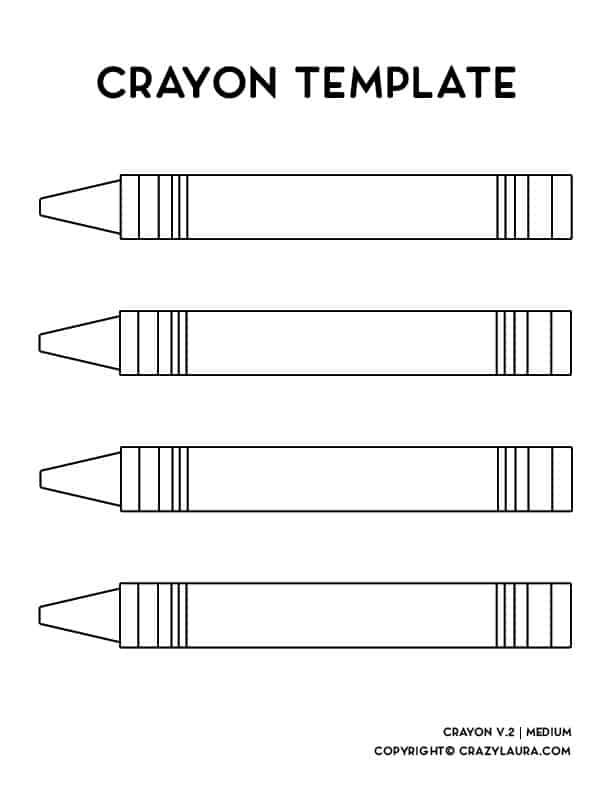 free kids crayon craft pages