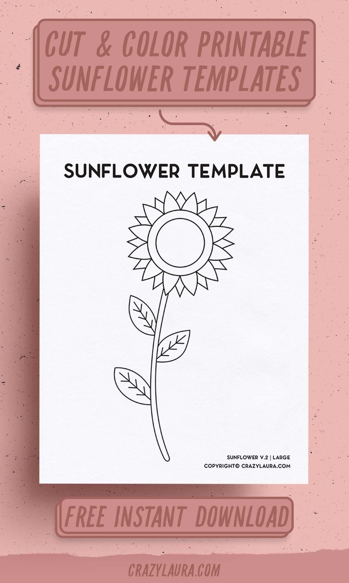 free flower craft printables