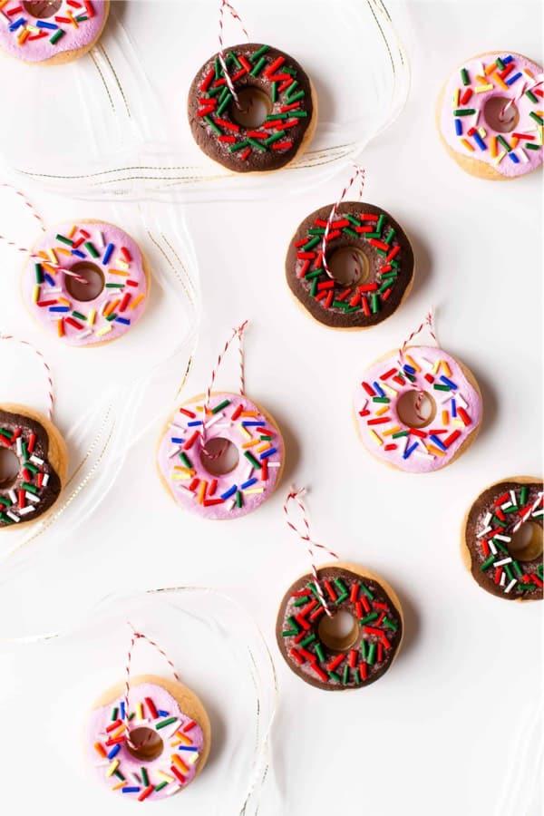 mini donut diy ornaments
