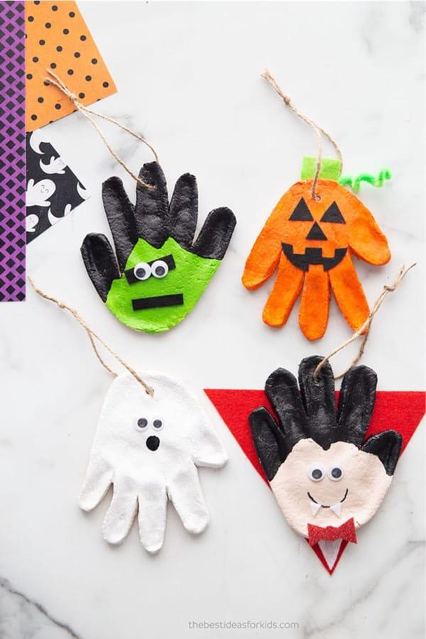 creative halloween craft with salt dough