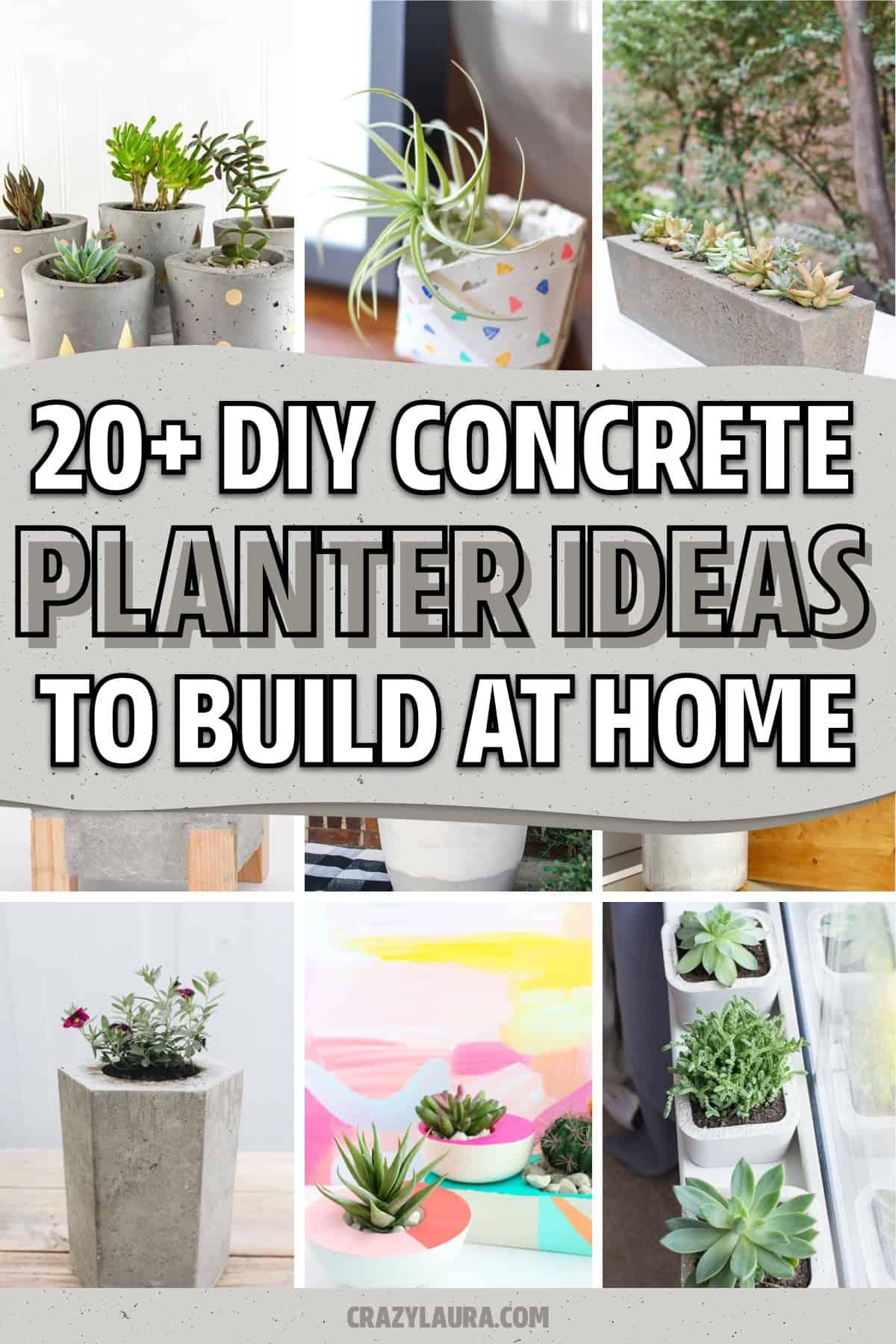 concrete planter ideas to build
