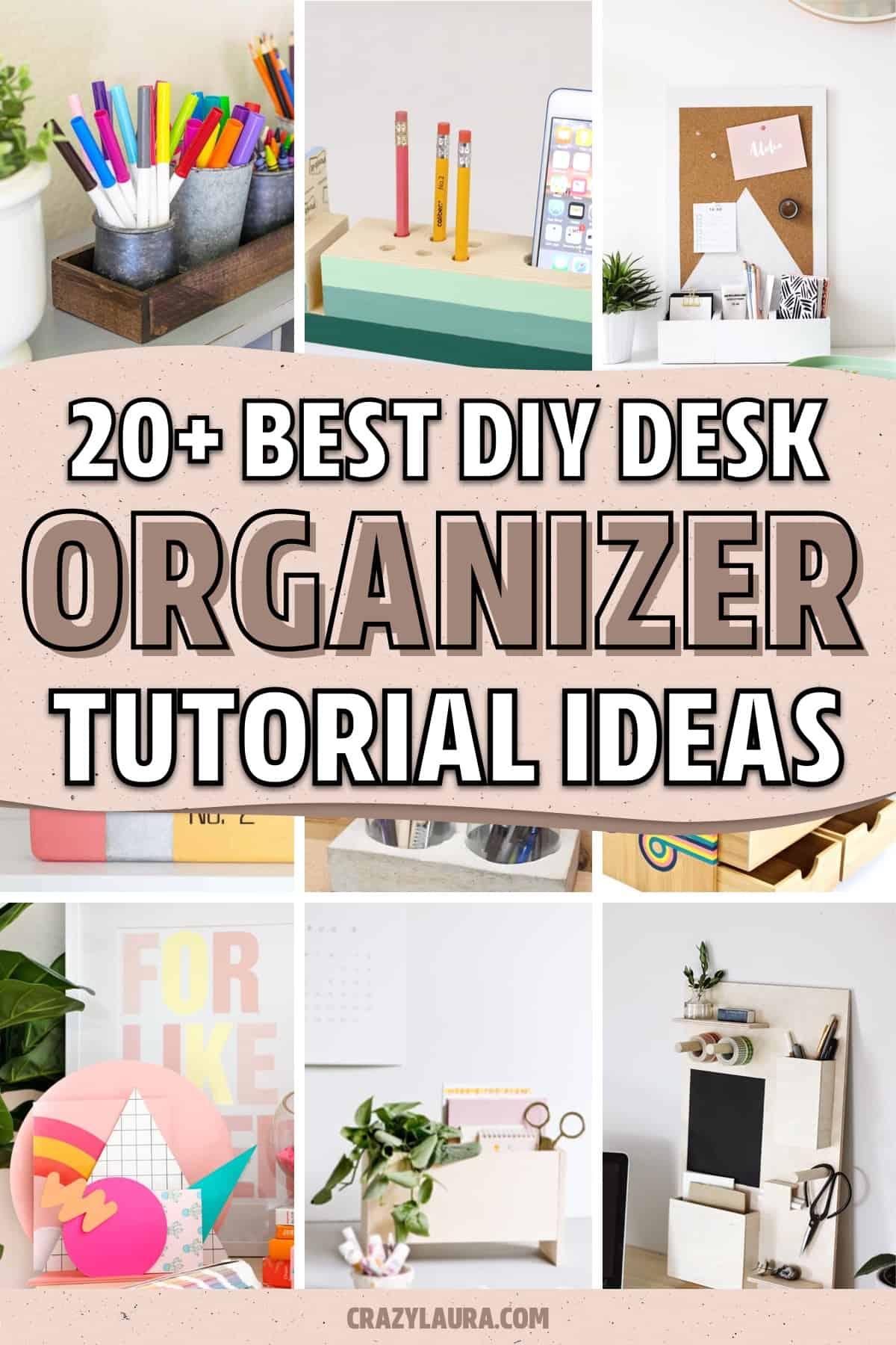 work desk diy organization tutorial