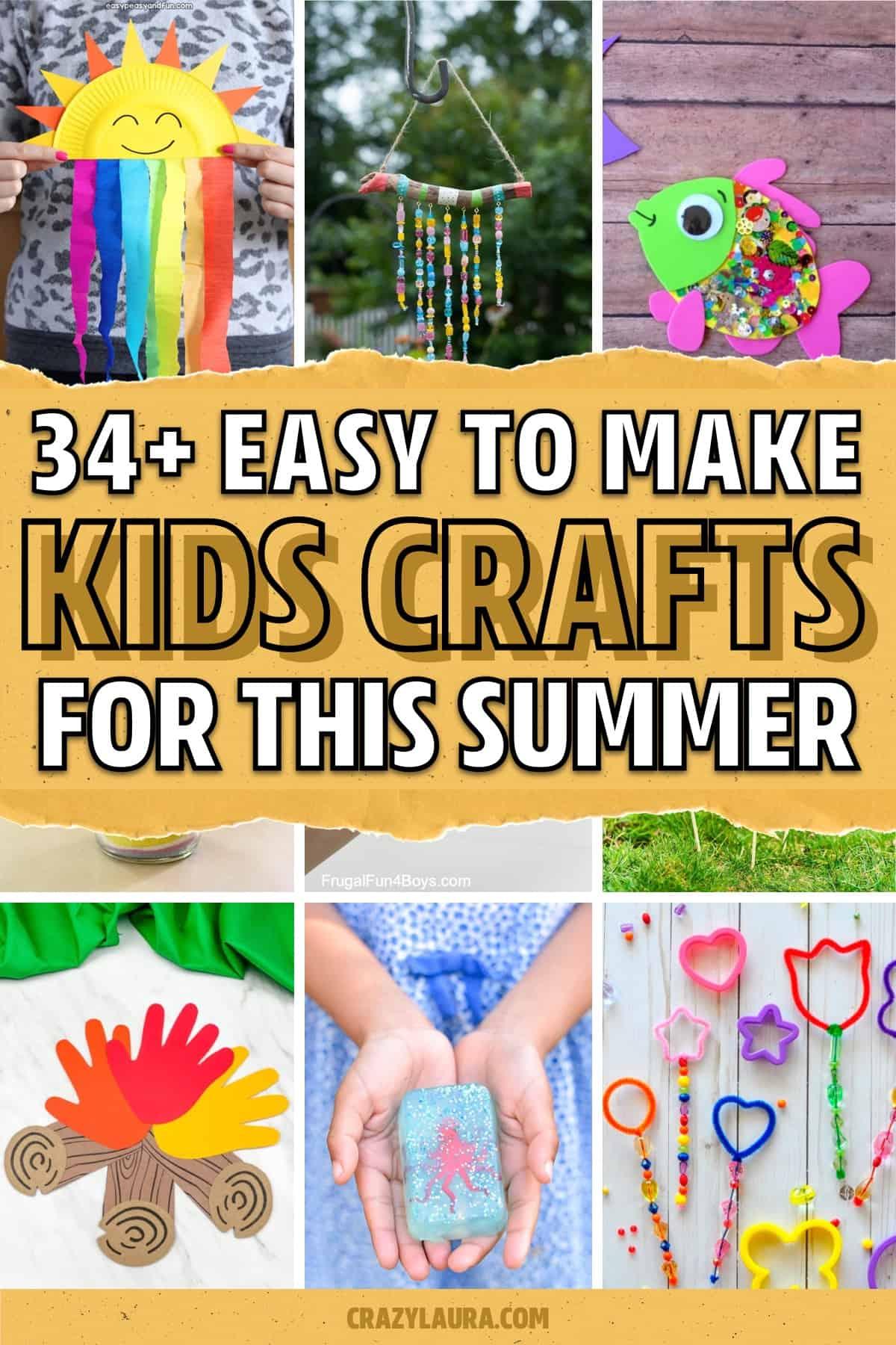 kid crafts to make during summer