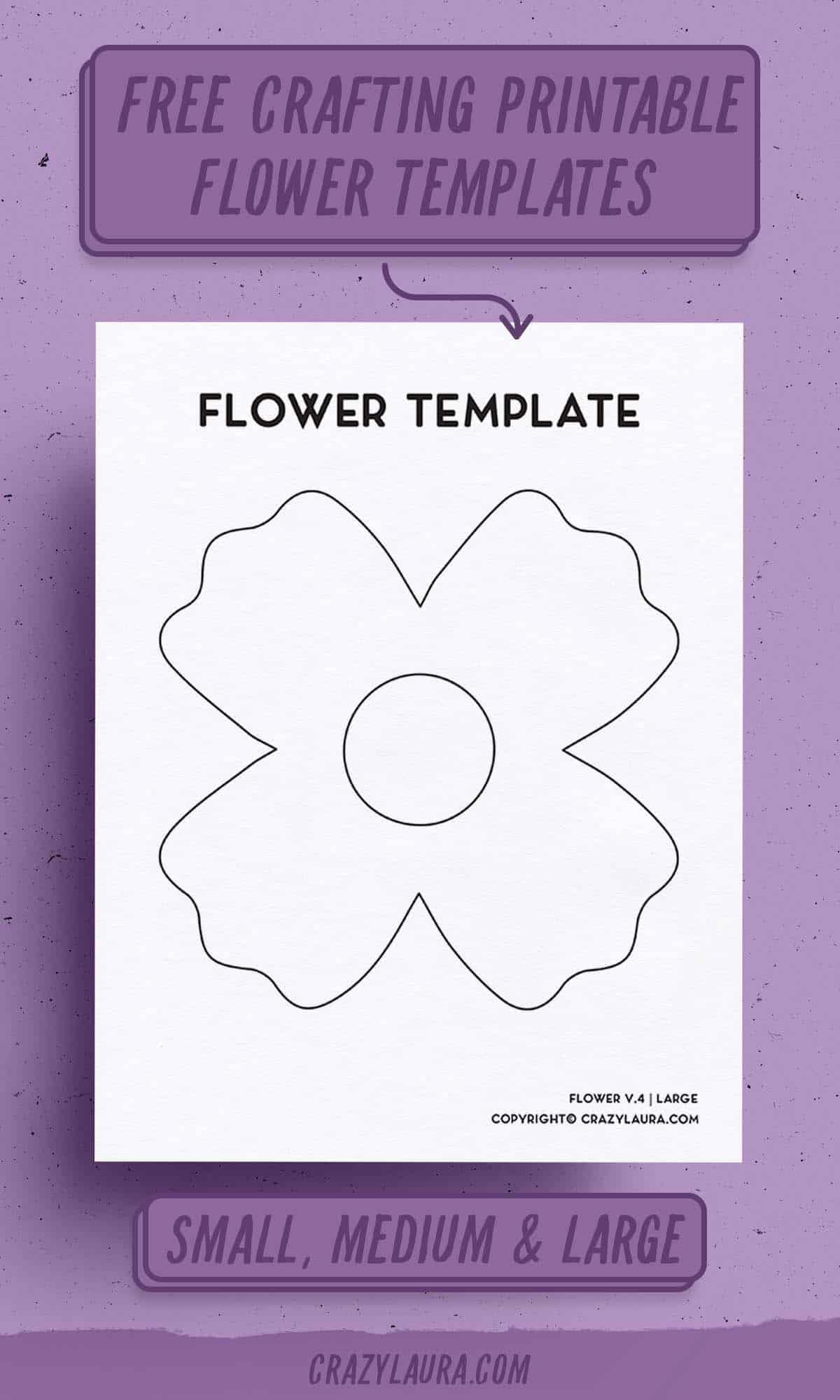 free flower printable templates