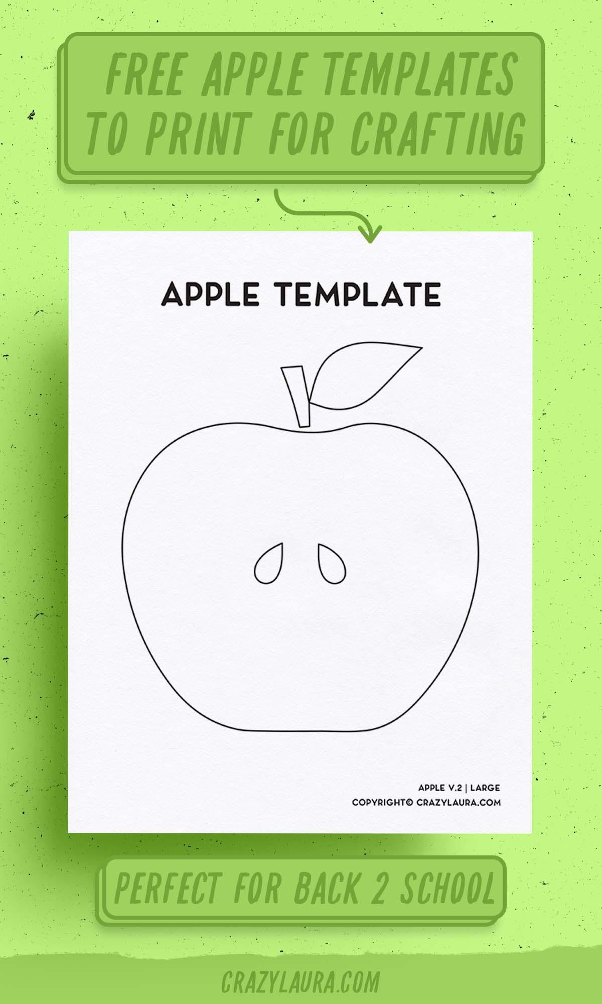simple apple printable craft page