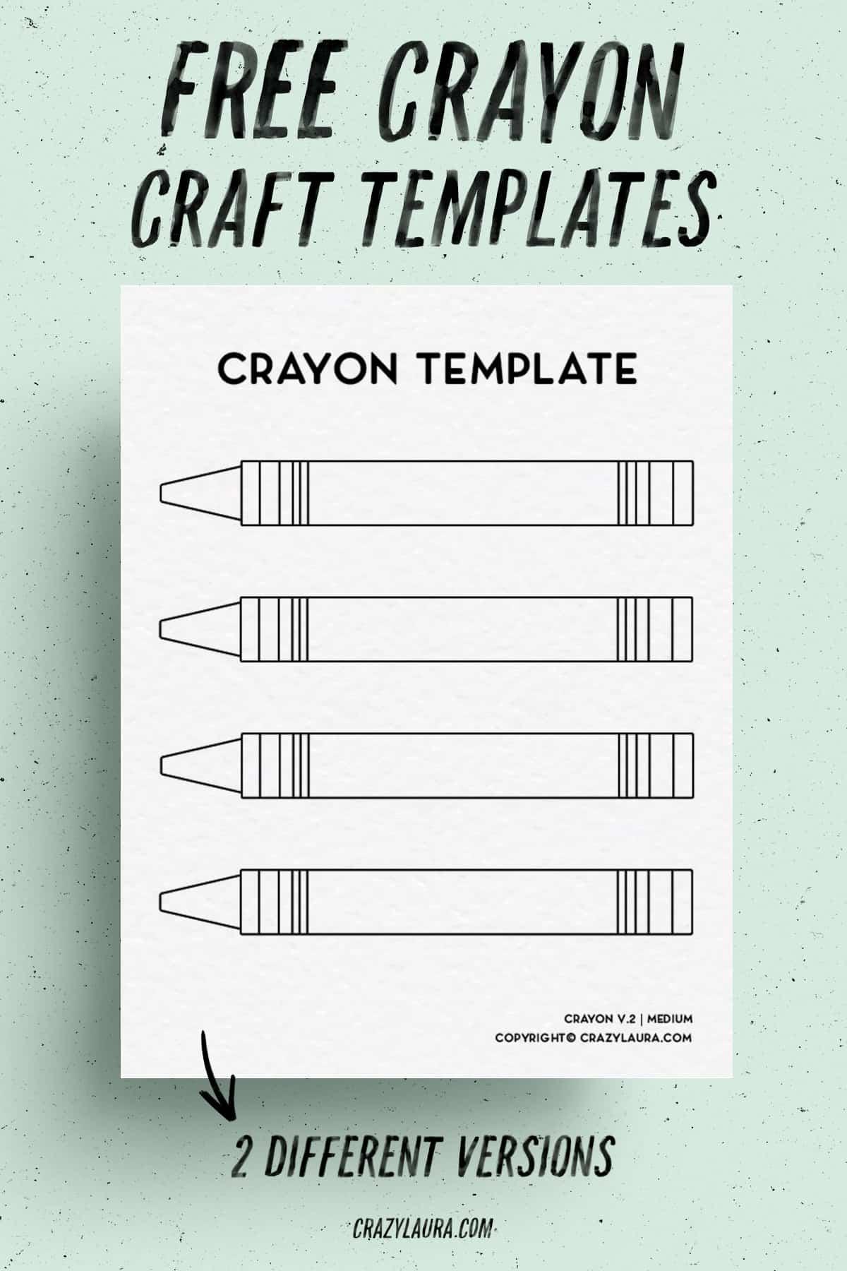 free crayon printable outlines