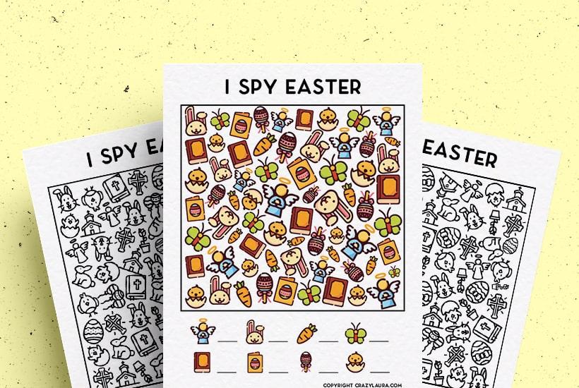 Free Easter I Spy Printable Game Sheets For Kids