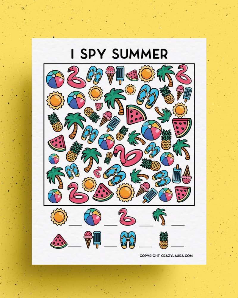 kids game sheets for summer