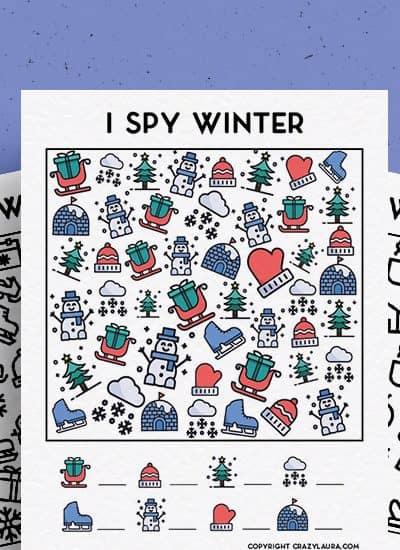 winter edition I spy template