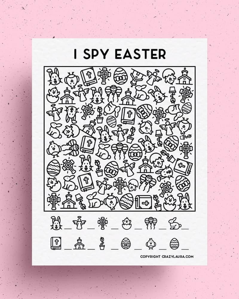 printable easter sunday i spy