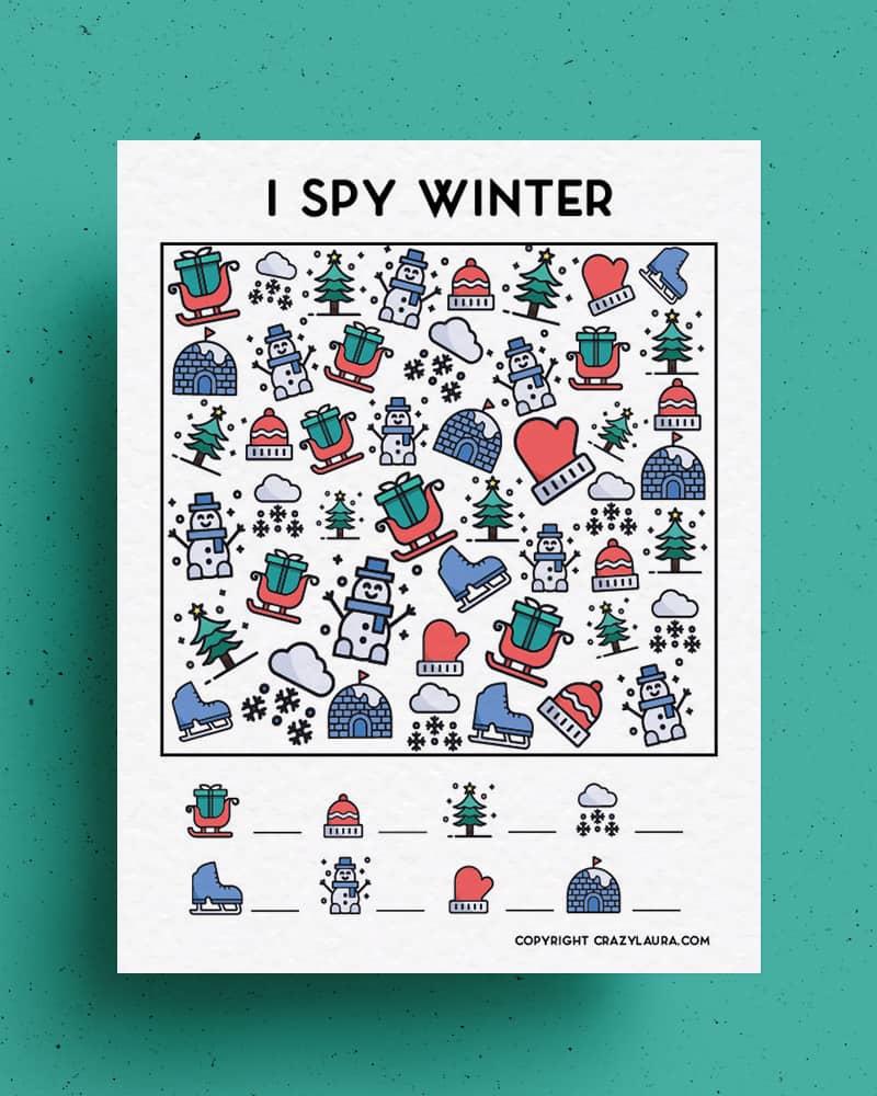 I spy winter games to print