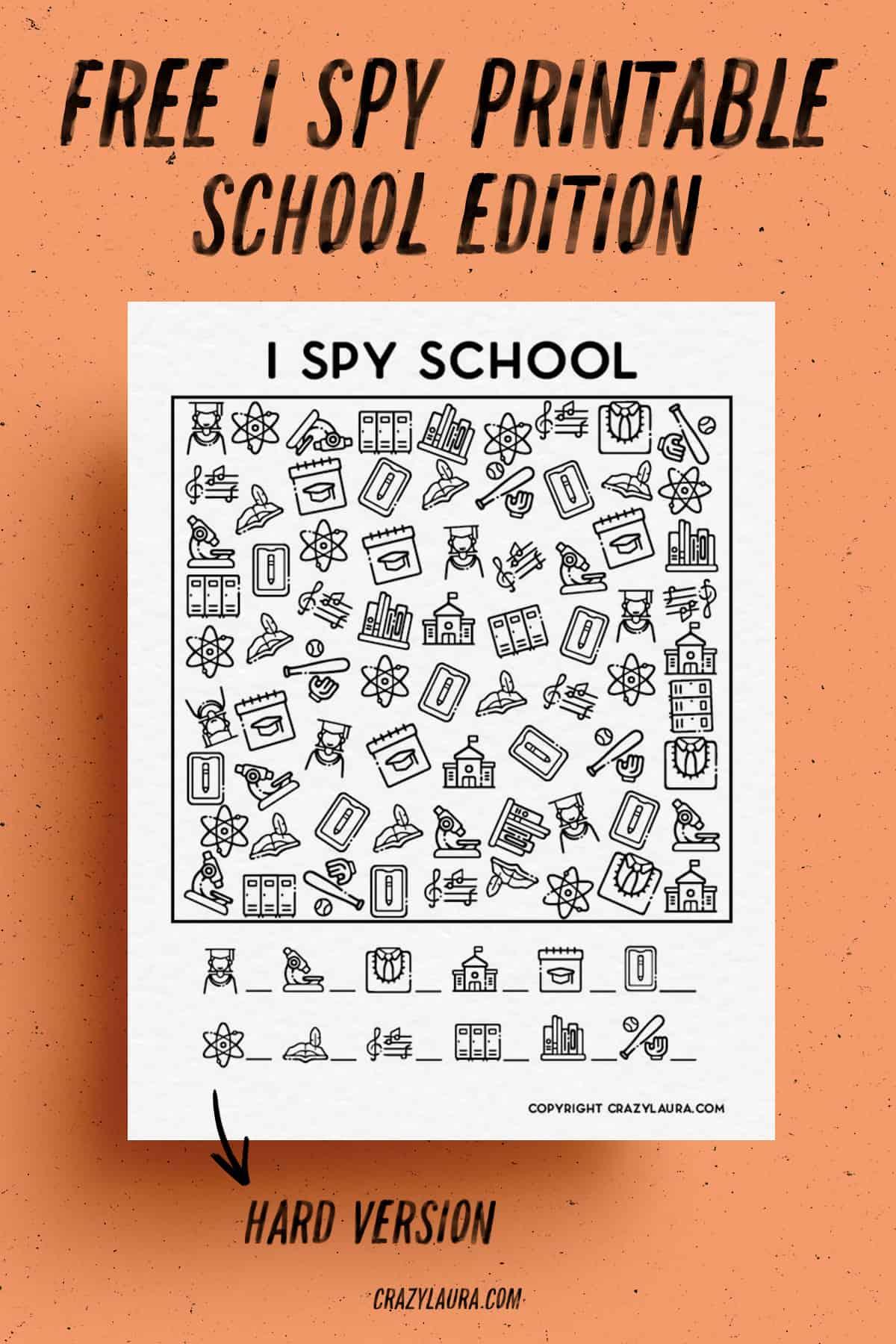 free i spy activities to print
