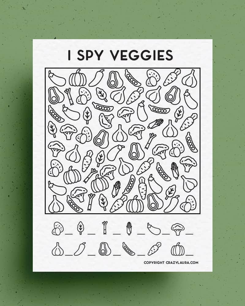veggie i spy template to download