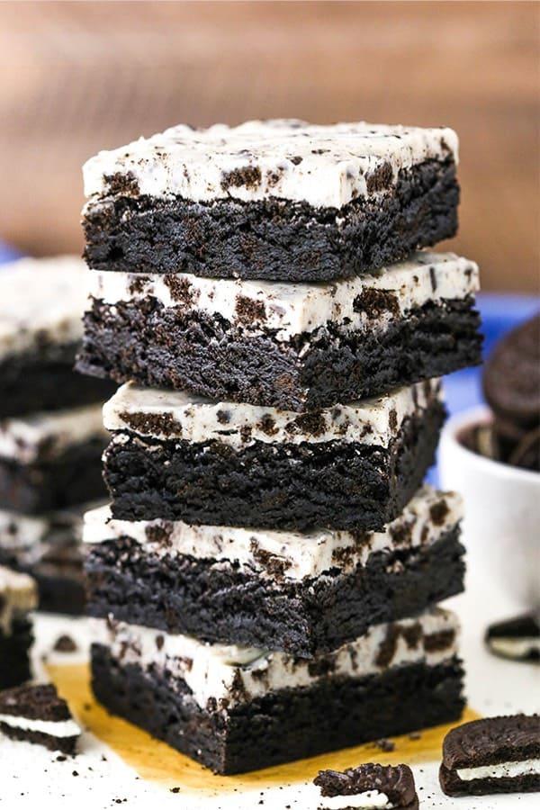 homemade cookies and cream brownie recipe