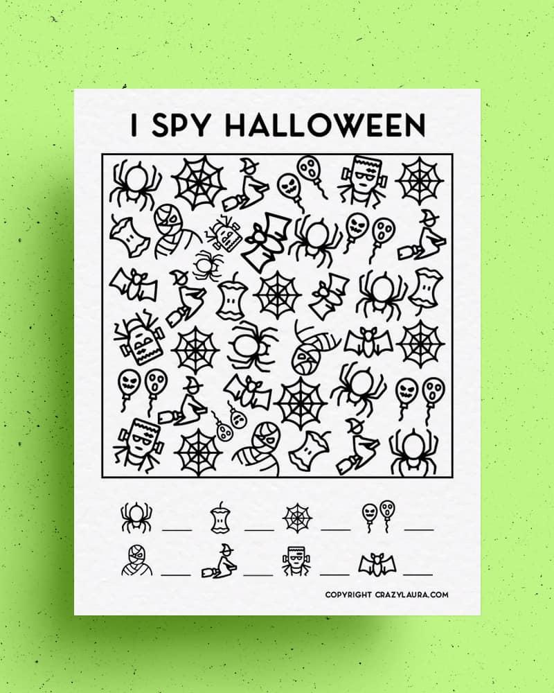 halloween printables to kids