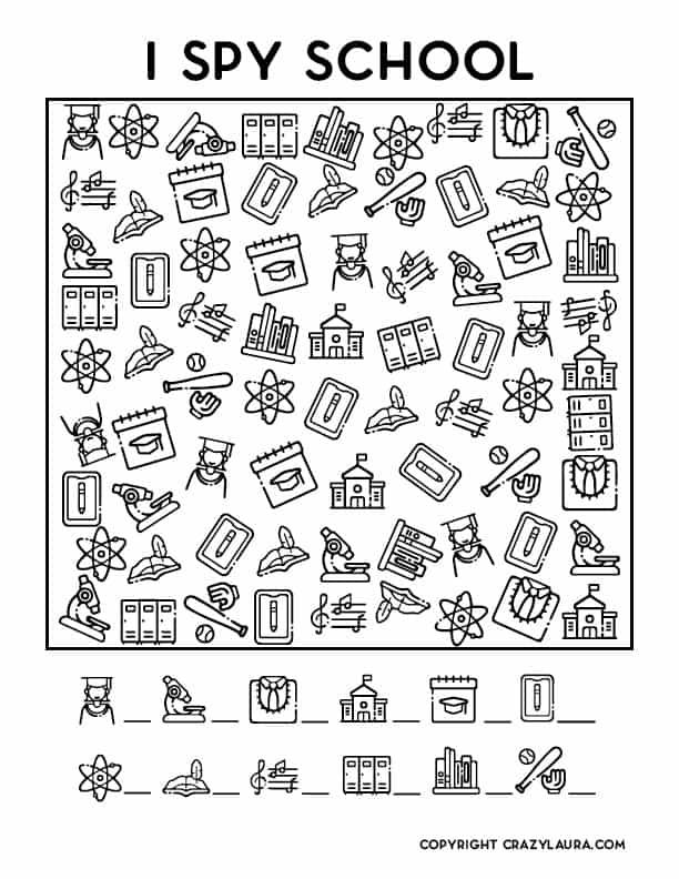 i spy school edition templates