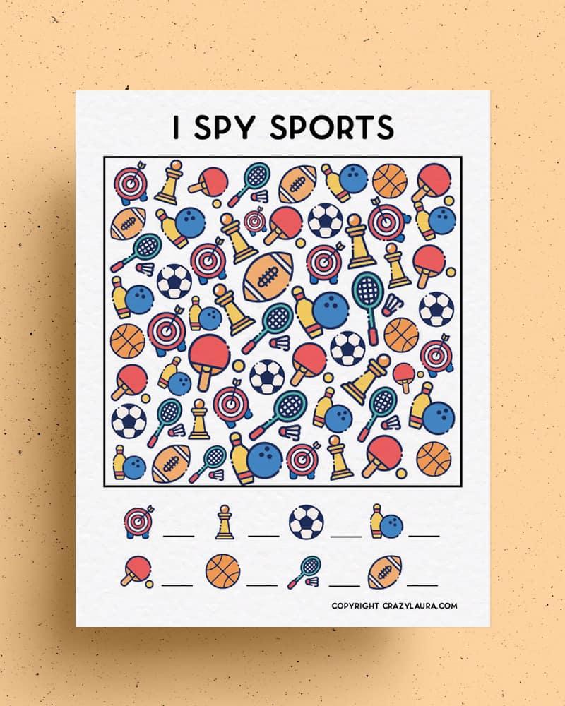 sports themed i spy activity